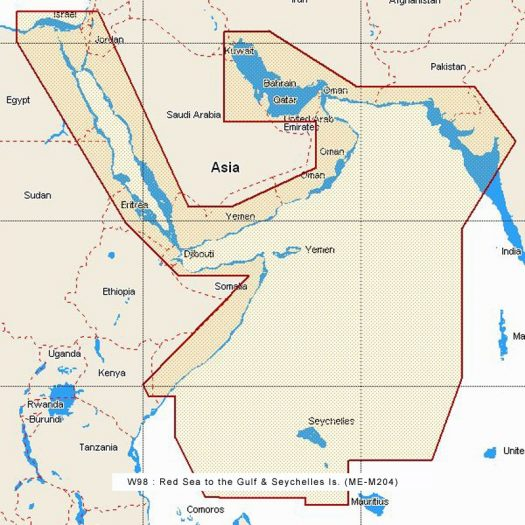 W98 - Red Sea to the Gulf and Seychelles is.