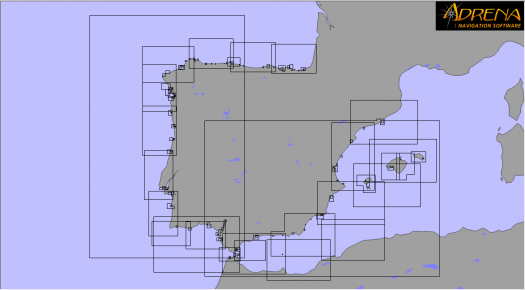 Pack SnMap raster Chart : Spain + Portugal coasts