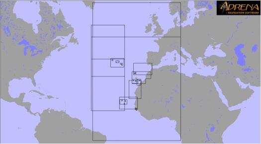 Pack SnMap raster Chart : East Atlantic Islands