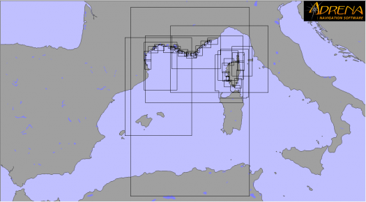 Pack SnMap Raster Chart : Mediterranean French coasts