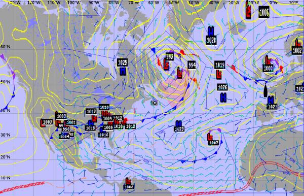 Affichage carte météo NOAA