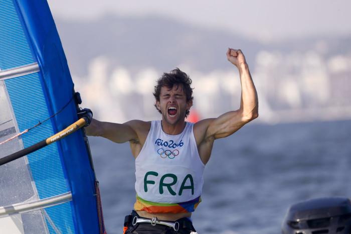 pierre le coq celebrates his bronze10f2