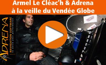 Armel Le Cléac'h et Adrena sur le Vendée Globe
