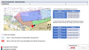 Capture écran de roadbook pour la préparation du Tour de france à la voile 2018