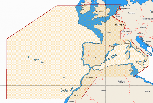 West European coasts & West Med EW-M010