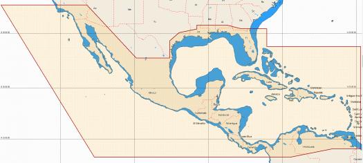 Carte Central America & Carribean NA-M027