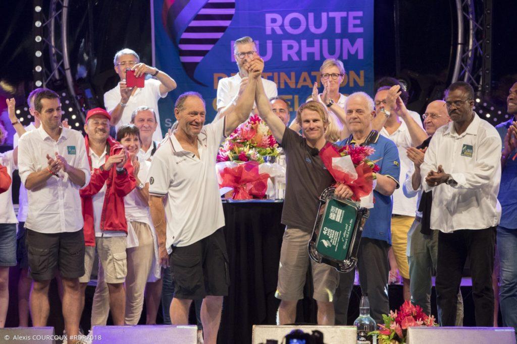 Francis Joyon et François Gabart à la remise des prix de la Route du Rhum 2018